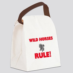 Wild Horses Rule! Canvas Lunch Bag
