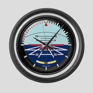Artificial Horizon (TRANS white 1 Large Wall Clock
