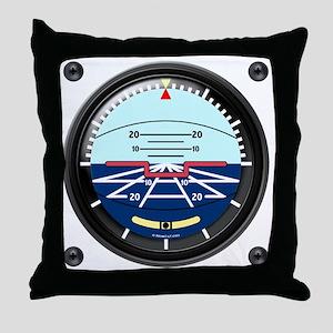Artificial Horizon (TRANS white 12x12 Throw Pillow