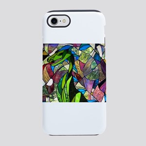 Mystic Dragon in Stained Glass iPhone 7 Tough Case