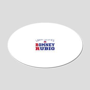 Romney Rubio Republican 2012 20x12 Oval Wall Decal