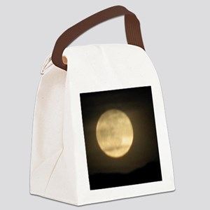 full moon Canvas Lunch Bag