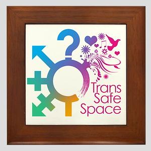 Trans Safe Space Sticker Framed Tile