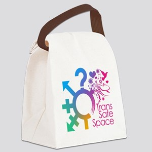 Trans Safe Space Sticker Canvas Lunch Bag