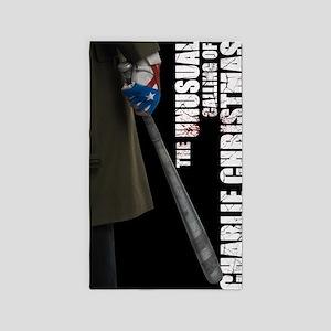Charlie Glove  Bat Poster 3'x5' Area Rug