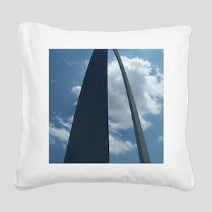 St. Louis Arch Square Canvas Pillow