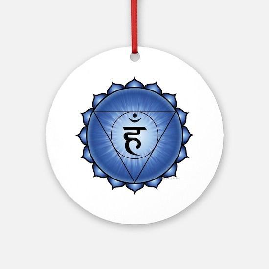 Throat Chakra Round Ornament
