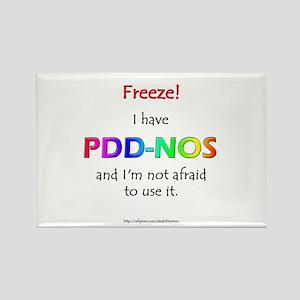 """Freeze!"" PDD-NOS Rectangle Magnet"