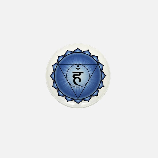 Throat Chakra Mini Button
