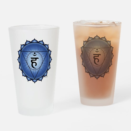 Throat Chakra Drinking Glass