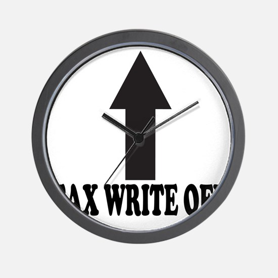 Tax write off Shirt Wall Clock