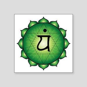 "Heart Chakra Square Sticker 3"" x 3"""