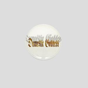 Domestic Goddess Mini Button