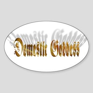 Domestic Goddess Oval Sticker