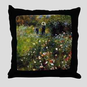 Renoir Summer Landscape Throw Pillow