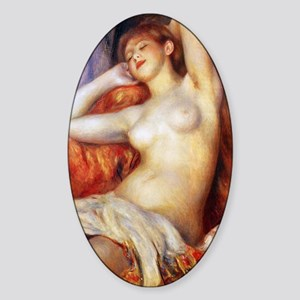 Sleeping Baigneuse Sticker (Oval)