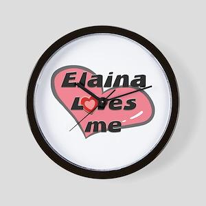 elaina loves me  Wall Clock