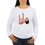ASL I Love You with mom and c Women's Long Sleeve