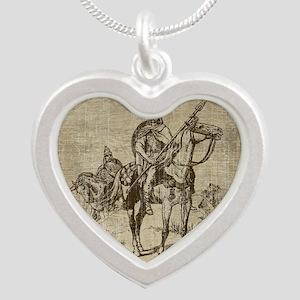 Vintage Viking Silver Heart Necklace
