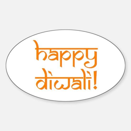 Happy Diwali Sticker (Oval)