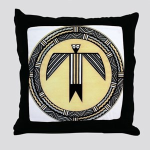 MIMBRES BIRDMAN BOWL DESIGN Throw Pillow