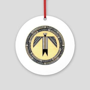 MIMBRES BIRDMAN BOWL DESIGN Ornament (Round)