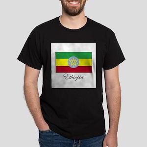 Ethiopia - Ethiopian Flag Dark T-Shirt