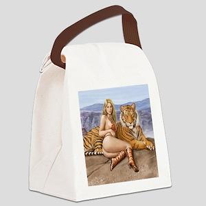 Tiger feet Canvas Lunch Bag