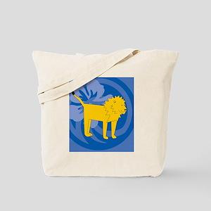 Lion Hexagon Ornament Tote Bag