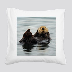 RCoaster_Otter_5 Square Canvas Pillow