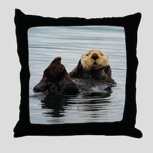 RCoaster_Otter_5 Throw Pillow