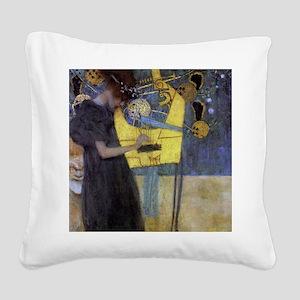 Gustav Klimt Music Square Canvas Pillow