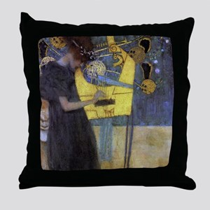 Gustav Klimt Music Throw Pillow