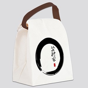 Enso Open Circle with Kanji for A Canvas Lunch Bag