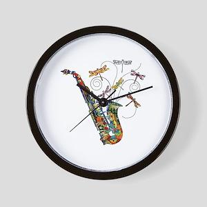 wild Saxophone Wall Clock