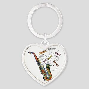 wild Saxophone Heart Keychain