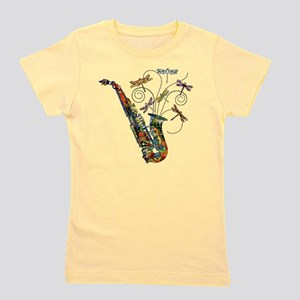 wild Saxophone Girl's Tee