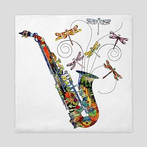 wild Saxophone Queen Duvet