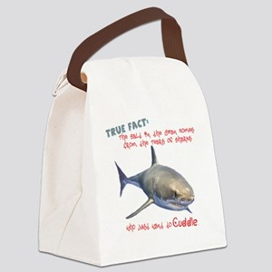 Shark Tears Canvas Lunch Bag