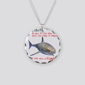 Shark Tears Necklace Circle Charm