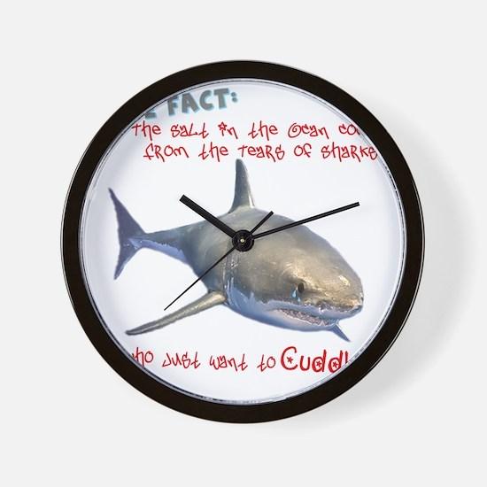 Shark Tears Wall Clock
