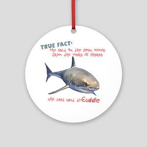 Shark Tears Round Ornament