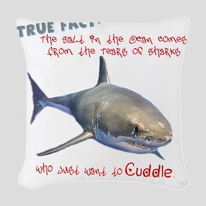 Shark Tears Woven Throw Pillow