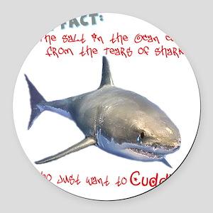 Shark Tears Round Car Magnet