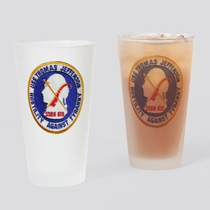 uss thomas jeffer patch transparent Drinking Glass