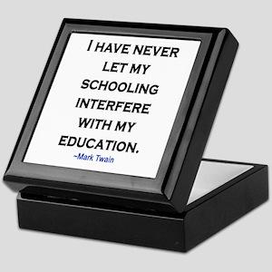 MARK TWAIN EDUCATION QUOTE Keepsake Box