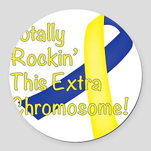 Rockin Chromosome Round Car Magnet