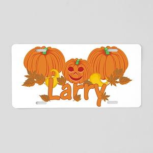Halloween Pumpkin Larry Aluminum License Plate
