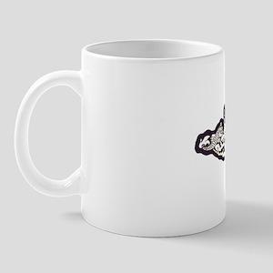 uss tecumseh white letters Mug