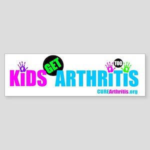 Kids Get Arthritis Too Neon Sticker (Bumper)